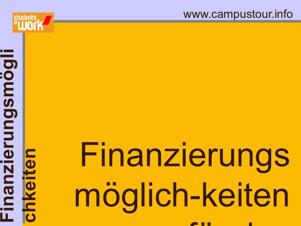 Finanzierungsmöglich-keiten für das Studium