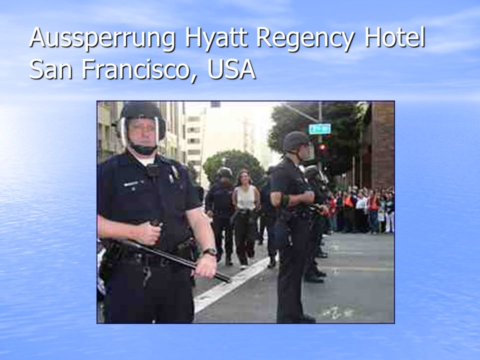 Aussperrung Hyatt Regency Hotel San Francisco, USA