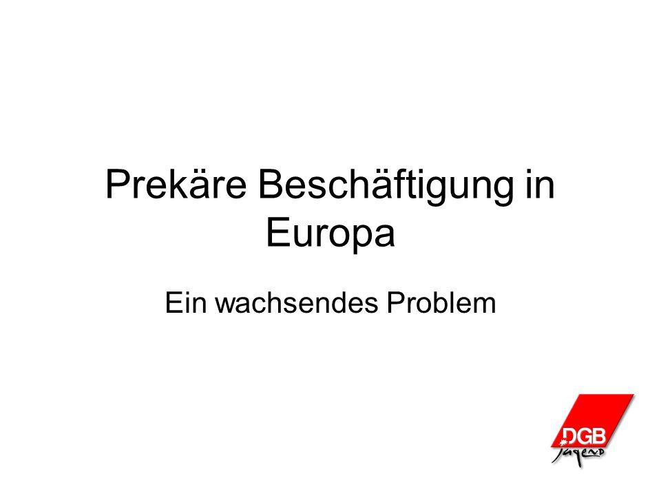 Prekäre Beschäftigung in Europa