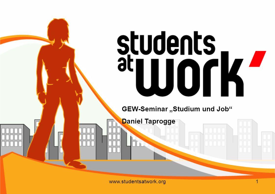 "GEW-Seminar ""Studium und Job Daniel Taprogge"
