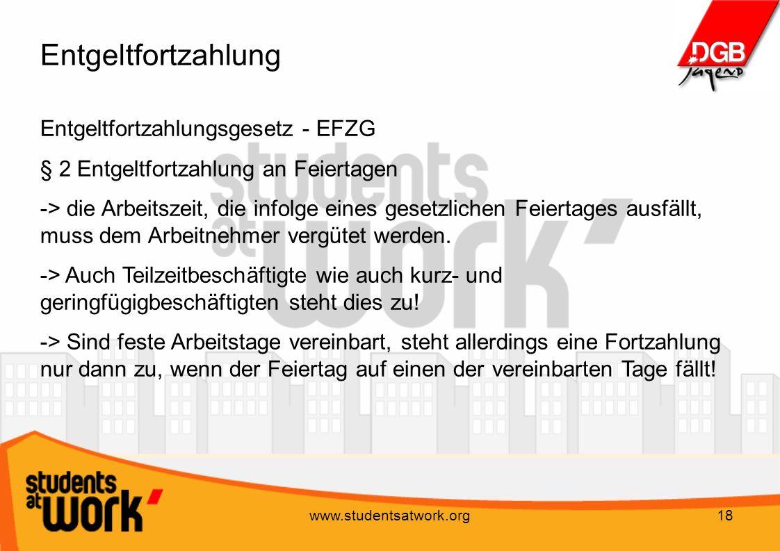 Entgeltfortzahlung Entgeltfortzahlungsgesetz - EFZG