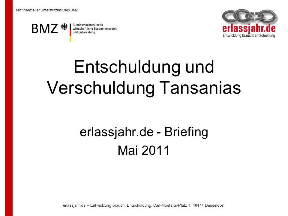 Entschuldung und Verschuldung Tansanias
