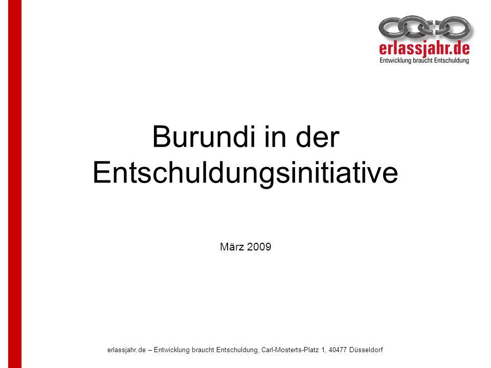 Burundi in der Entschuldungsinitiative