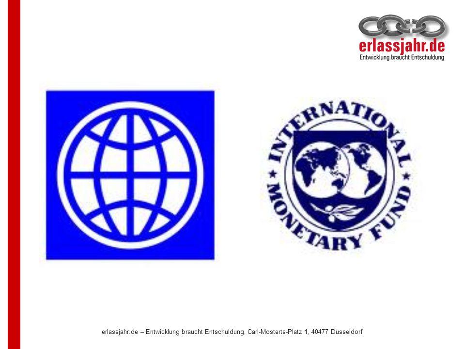 Weltbank und IWF darf die Beurteilung des Schuldnerlandes nicht mehr überlassen werden.