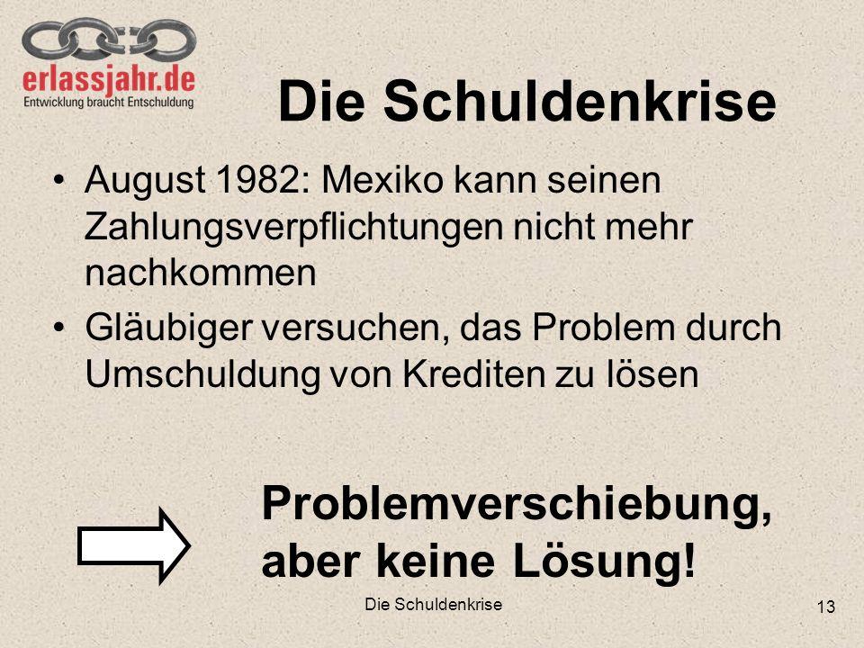 Die Schuldenkrise Problemverschiebung, aber keine Lösung!