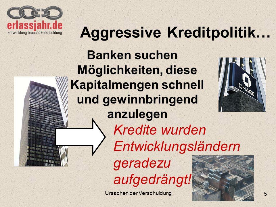 Aggressive Kreditpolitik…