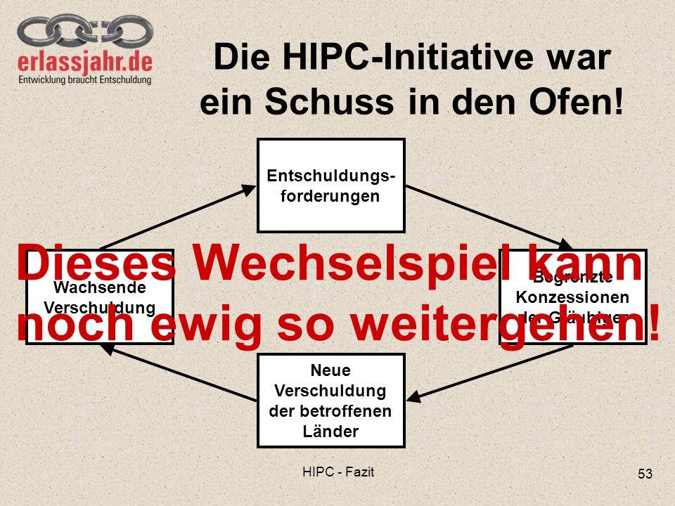 Die HIPC-Initiative war ein Schuss in den Ofen!