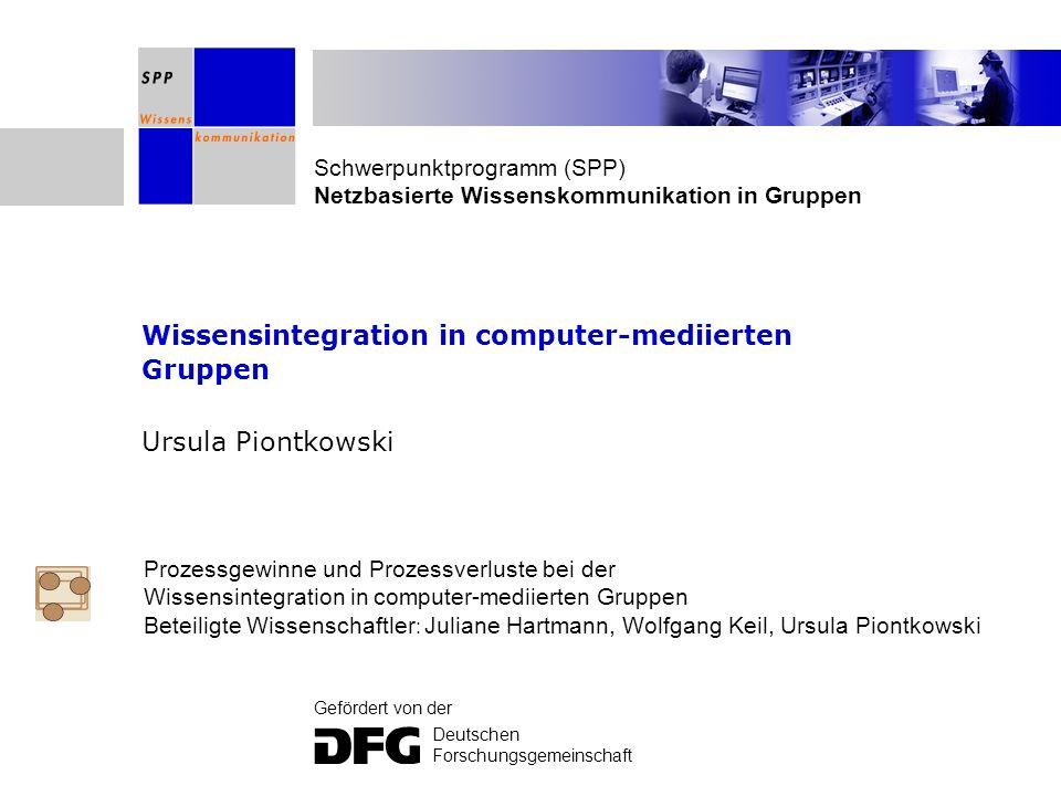 Wissensintegration in computer-mediierten Gruppen