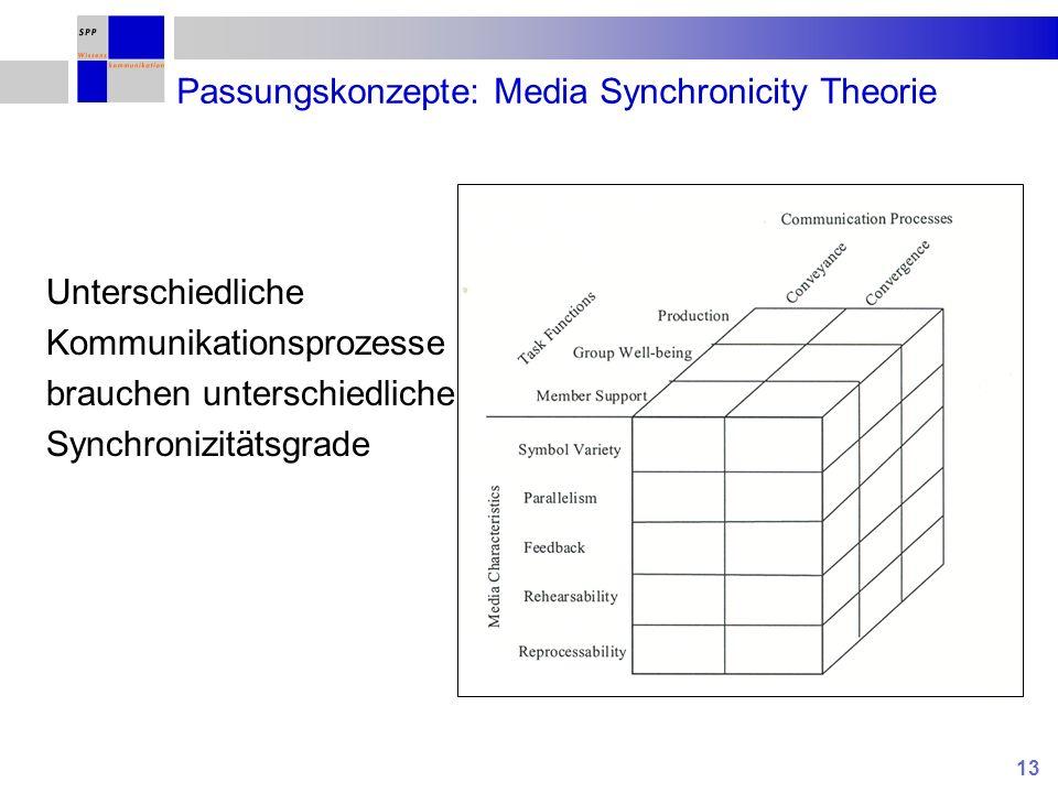 Passungskonzepte: Media Synchronicity Theorie