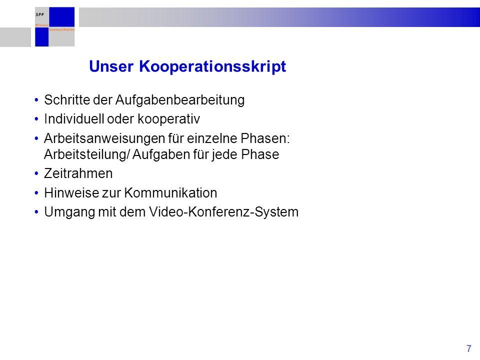 Unser Kooperationsskript