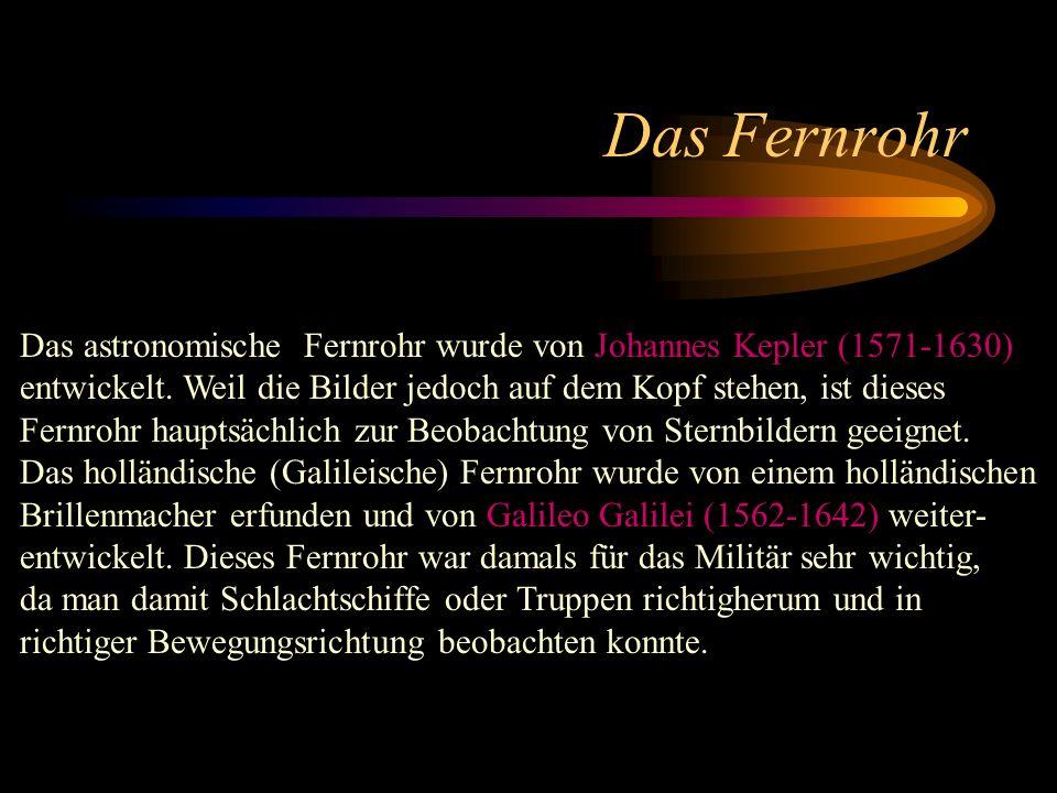 Kepler Galilei Das Fernrohr und