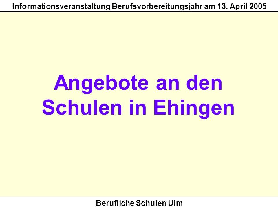Angebote an den Schulen in Ehingen