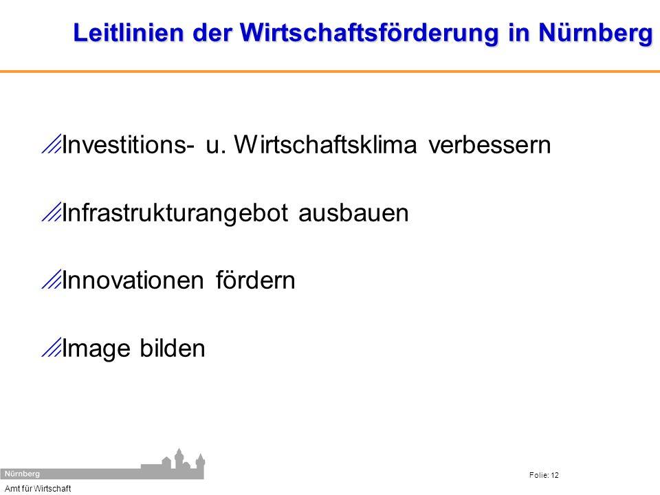 Leitlinien der Wirtschaftsförderung in Nürnberg