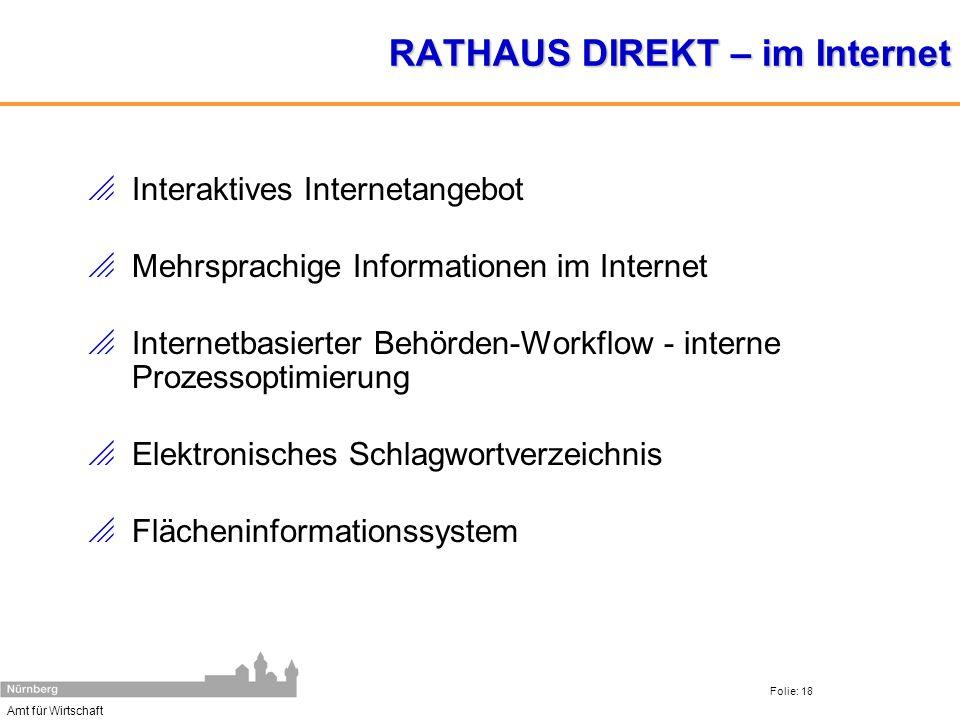 RATHAUS DIREKT – im Internet