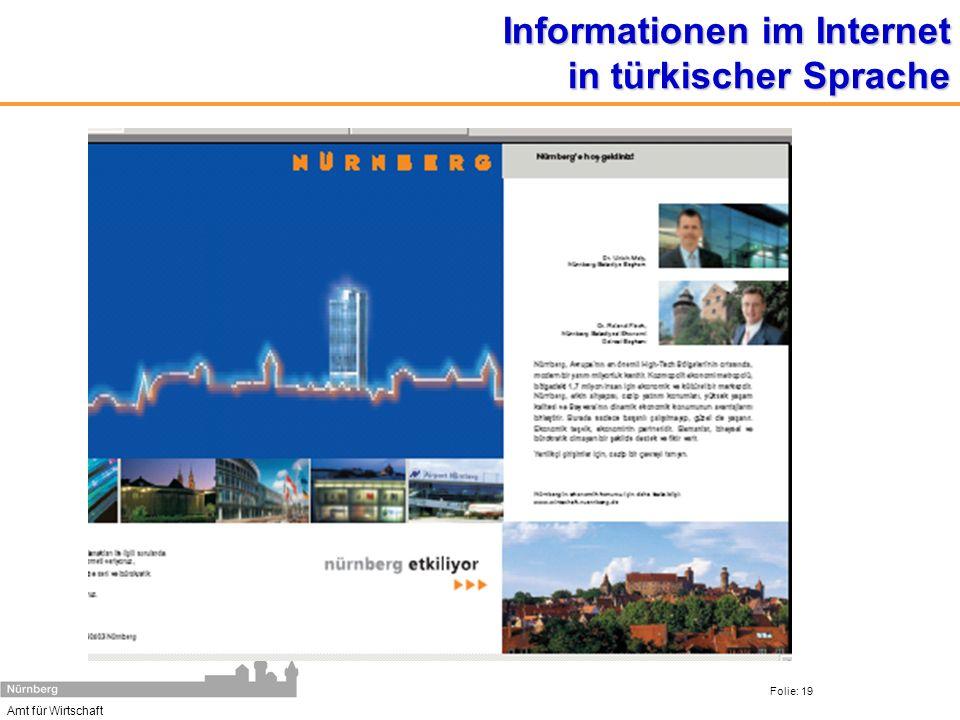 Informationen im Internet in türkischer Sprache