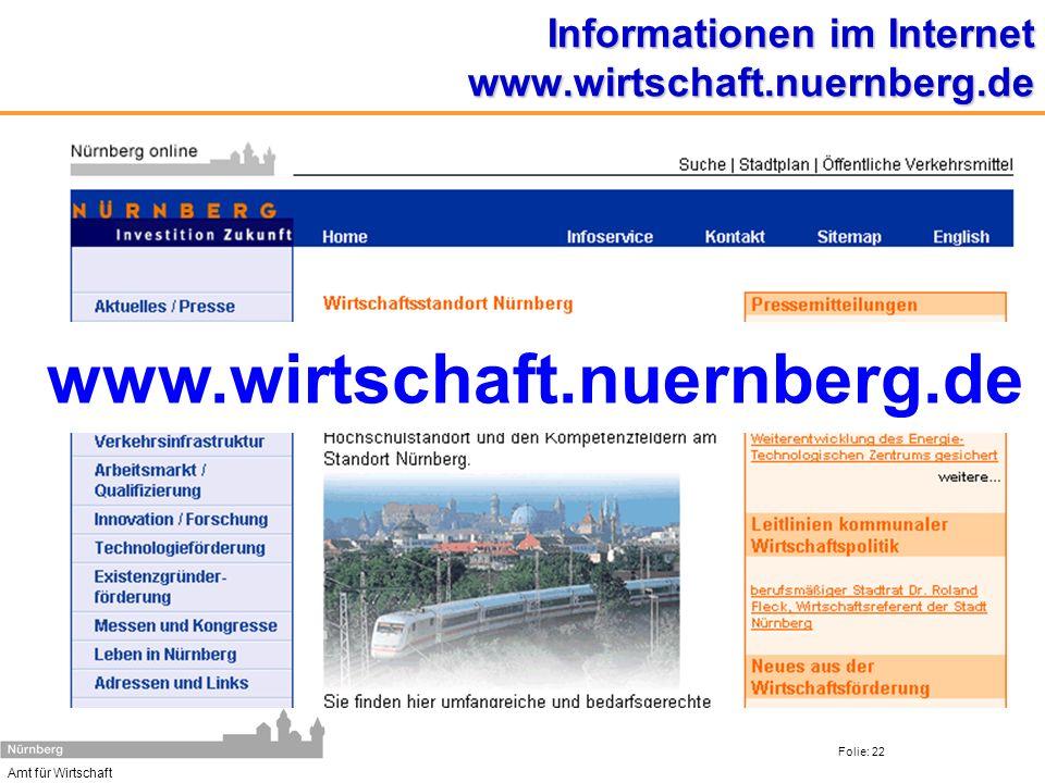 Informationen im Internet www.wirtschaft.nuernberg.de