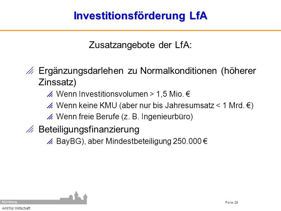 Investitionsförderung LfA
