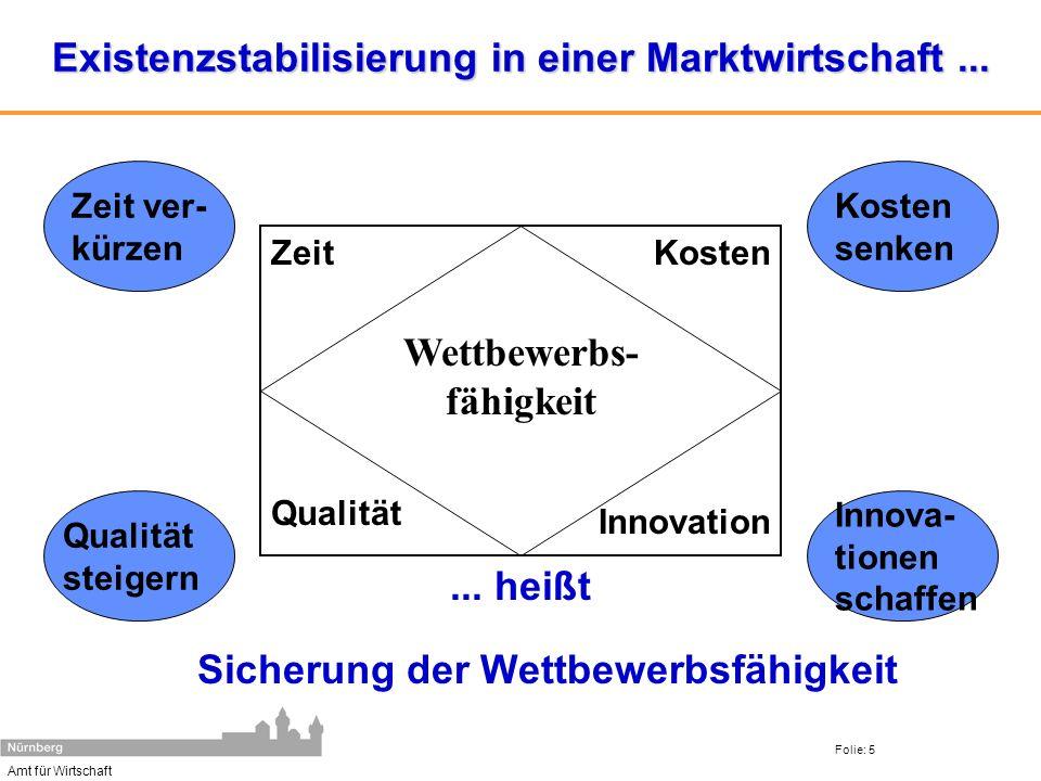 Existenzstabilisierung in einer Marktwirtschaft ...