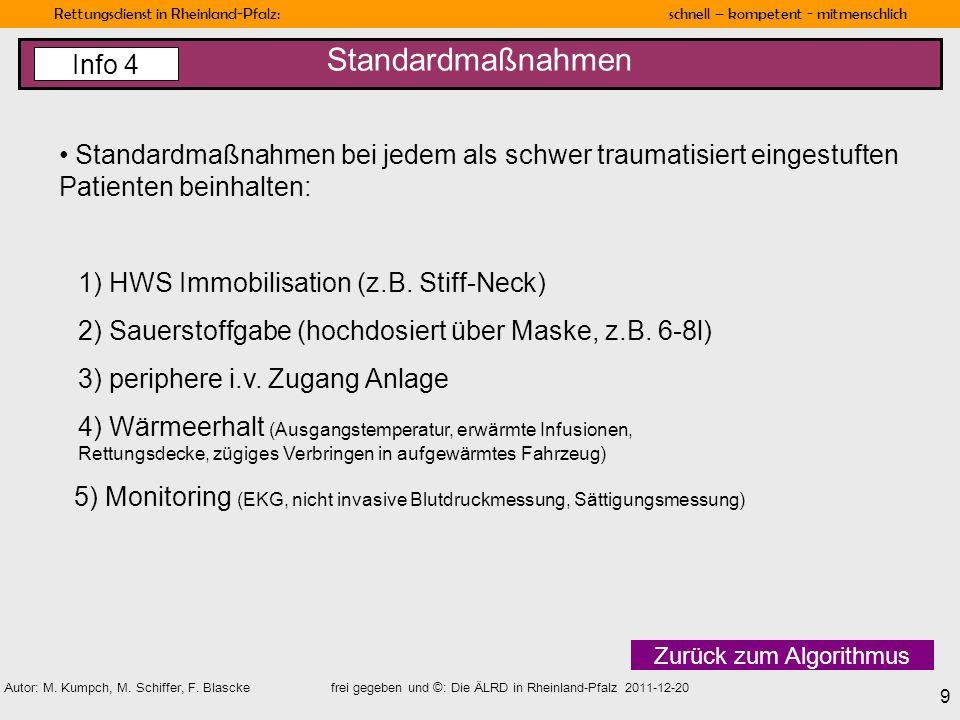 Standardmaßnahmen Info 4