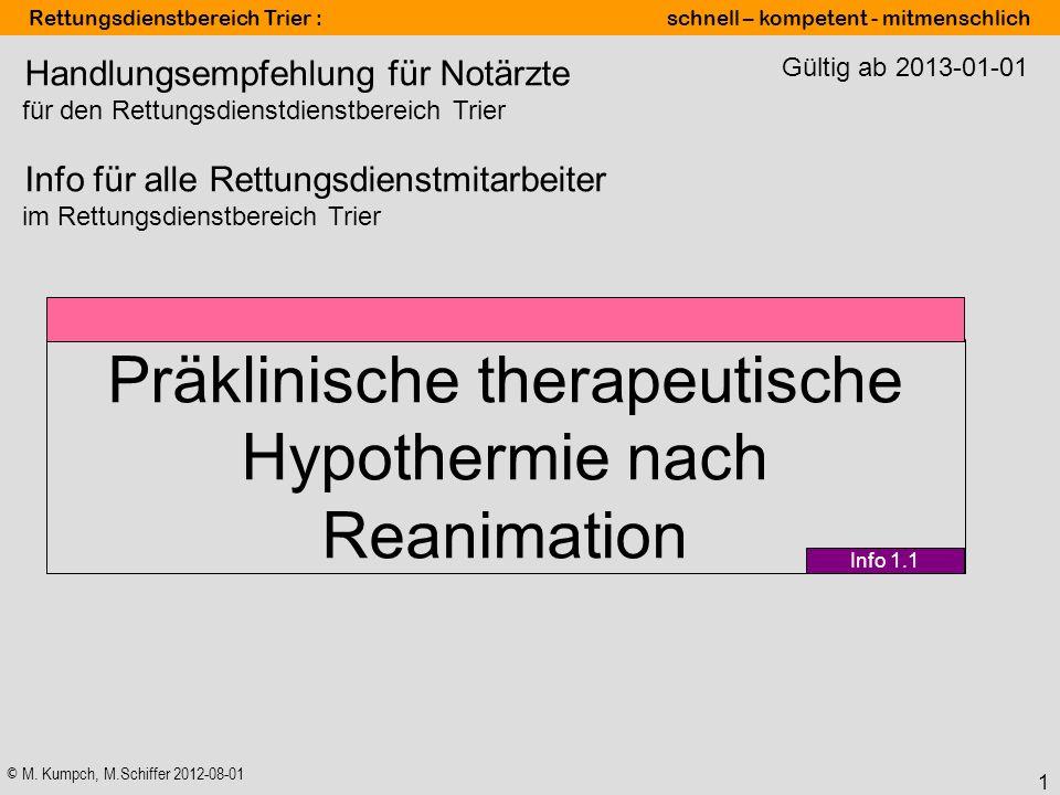 Präklinische therapeutische Hypothermie nach Reanimation