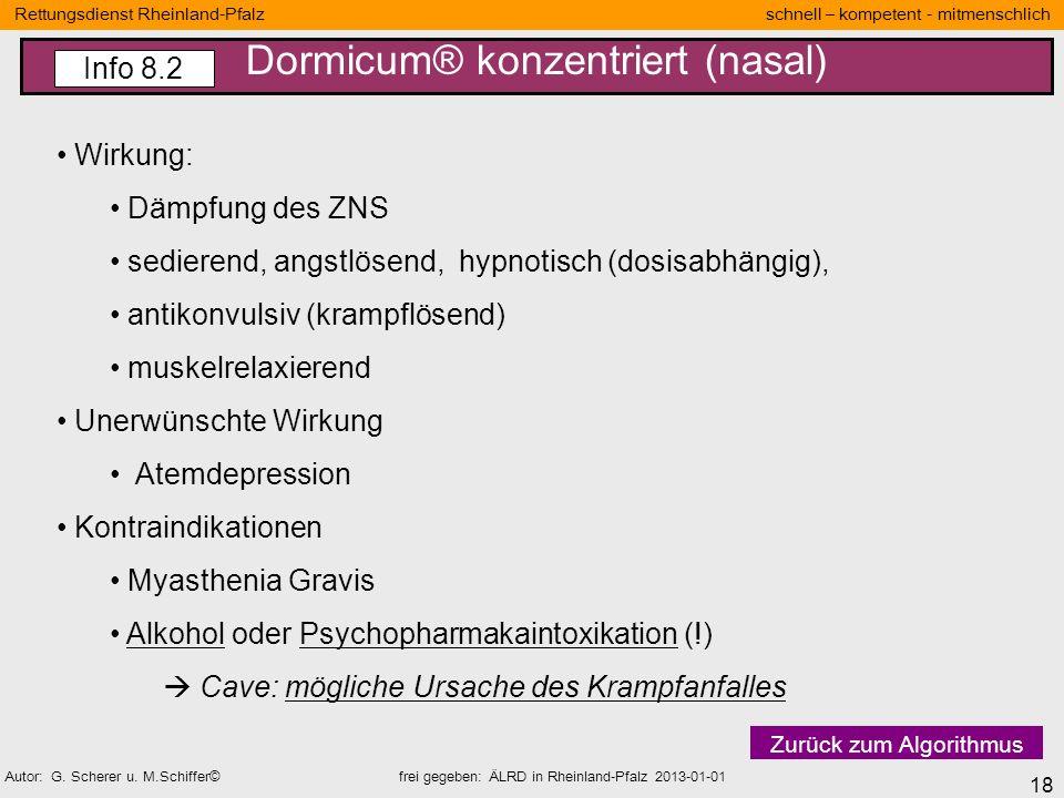 Dormicum® konzentriert (nasal)