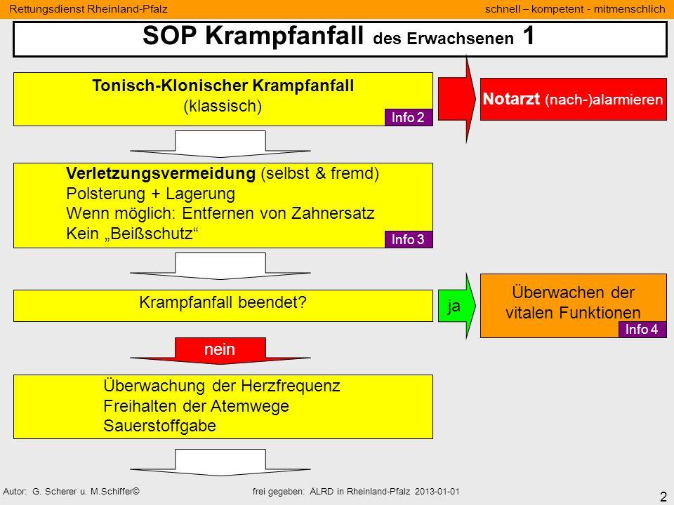 SOP Krampfanfall des Erwachsenen 1 Tonisch-Klonischer Krampfanfall
