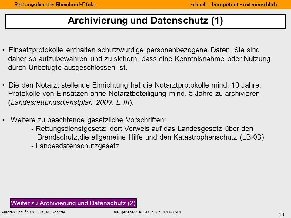 Archivierung und Datenschutz (1)