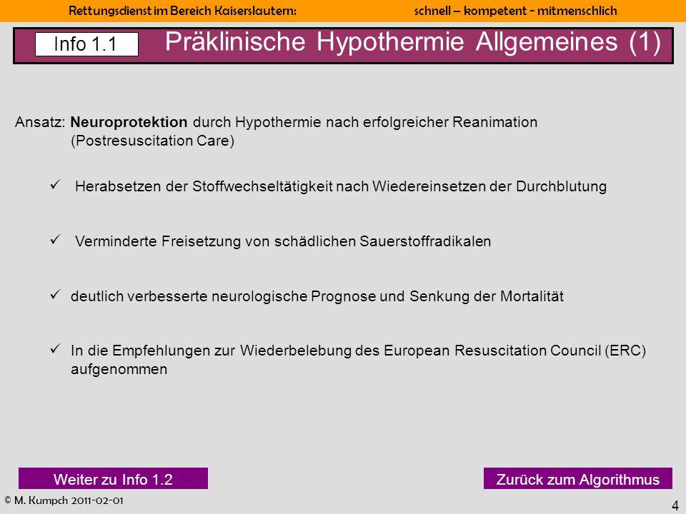 Präklinische Hypothermie Allgemeines (1)