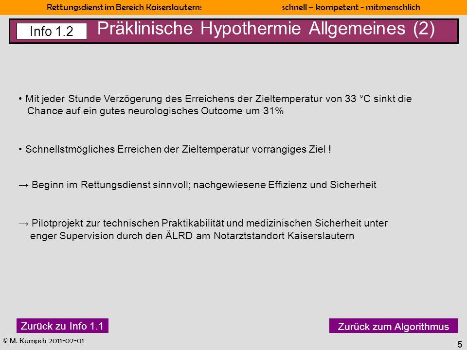Präklinische Hypothermie Allgemeines (2)
