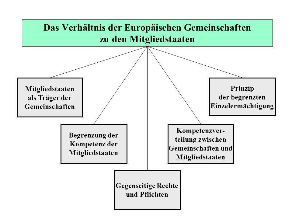 Das Verhältnis der Europäischen Gemeinschaften zu den Mitgliedstaaten