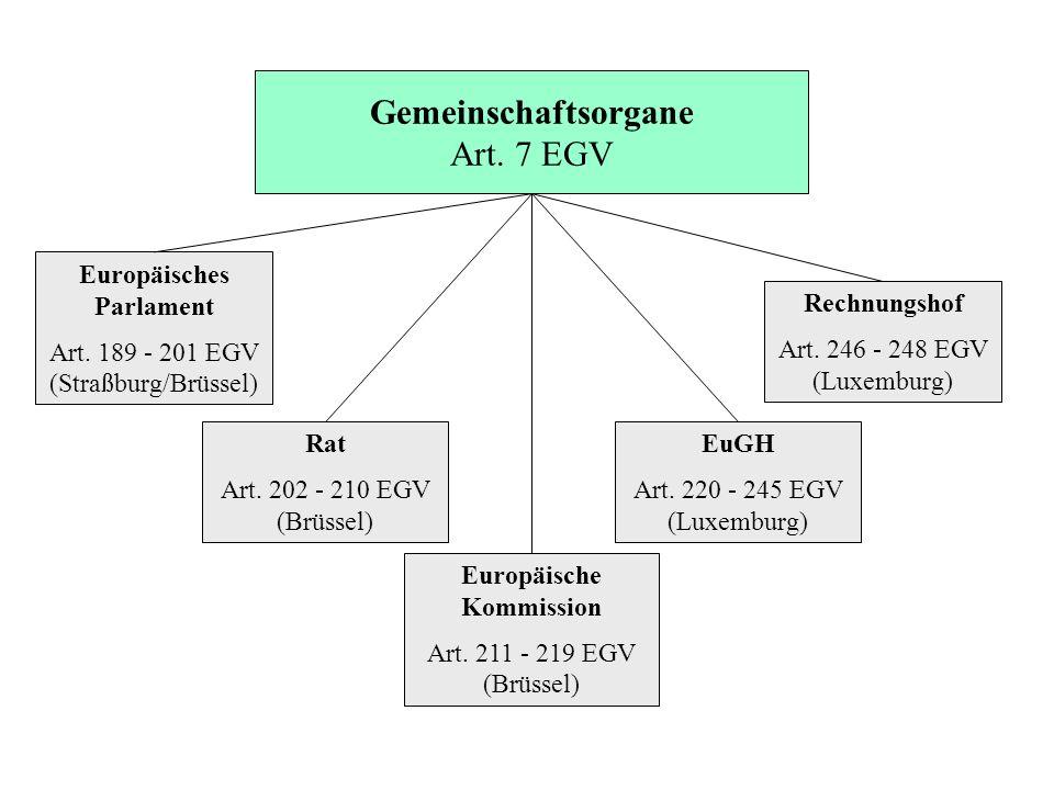 Gemeinschaftsorgane Art. 7 EGV