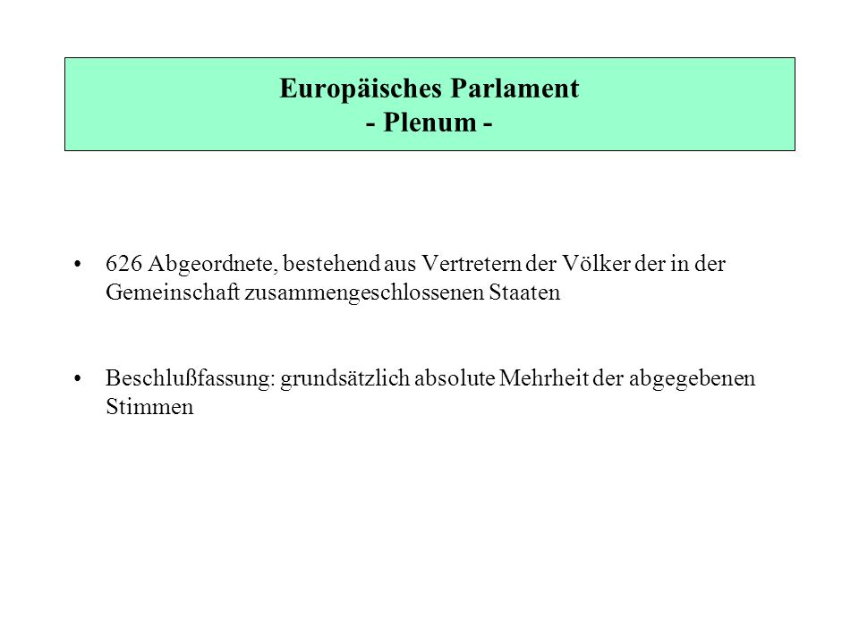 Europäisches Parlament - Plenum -