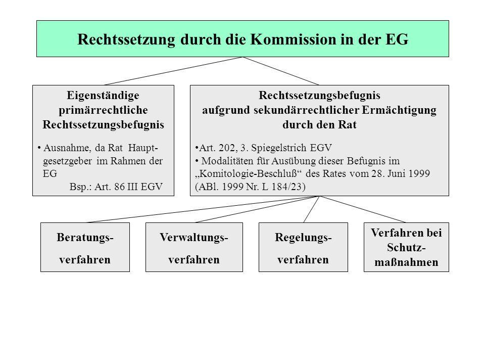 Rechtssetzung durch die Kommission in der EG