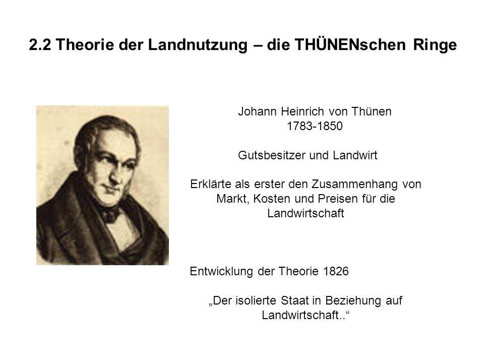2.2 Theorie der Landnutzung – die THÜNENschen Ringe