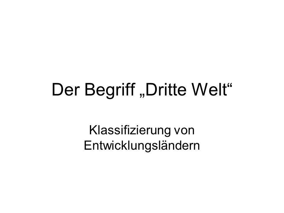"""Der Begriff """"Dritte Welt"""