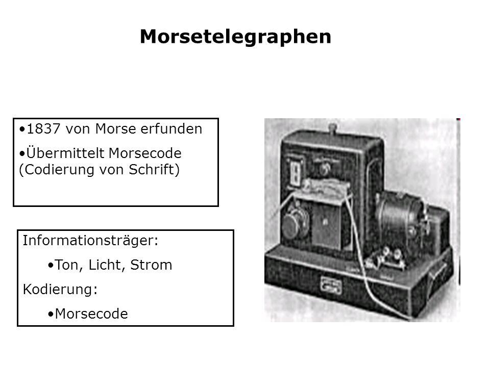 Morsetelegraphen 1837 von Morse erfunden