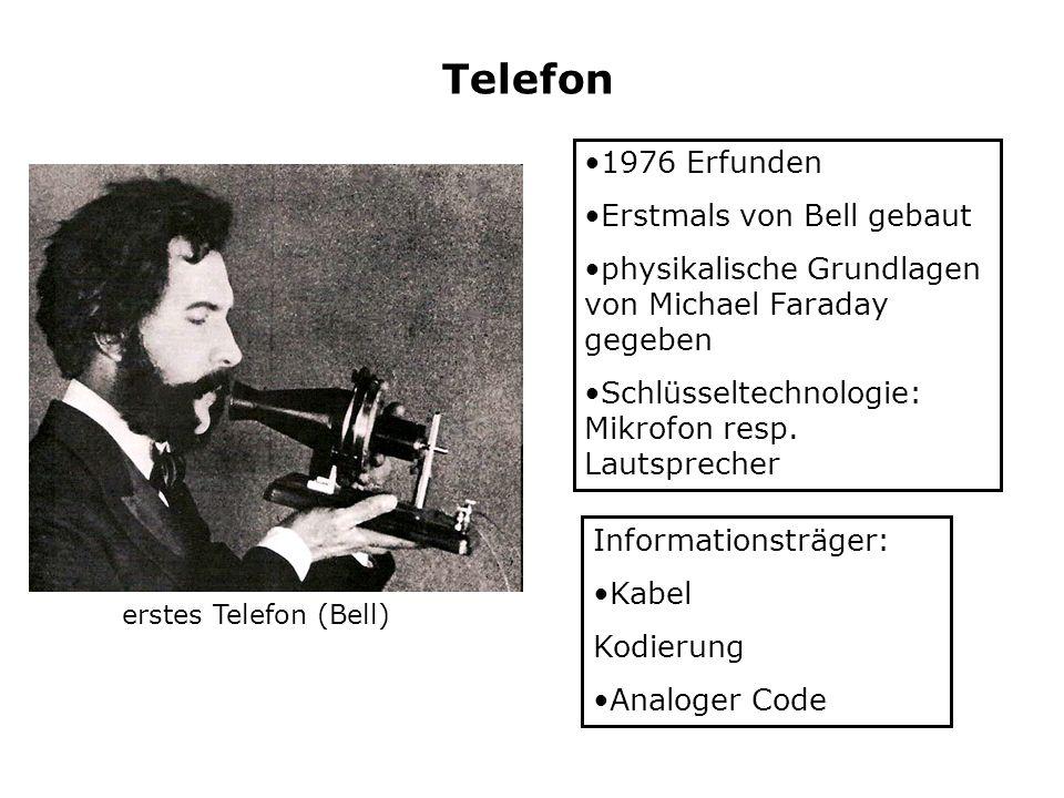Telefon 1976 Erfunden Erstmals von Bell gebaut