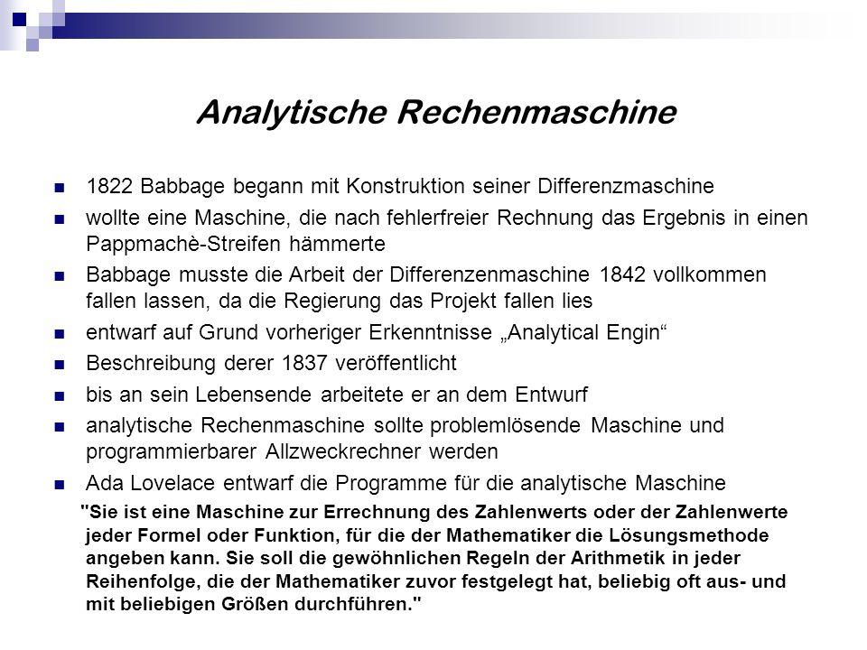 Analytische Rechenmaschine