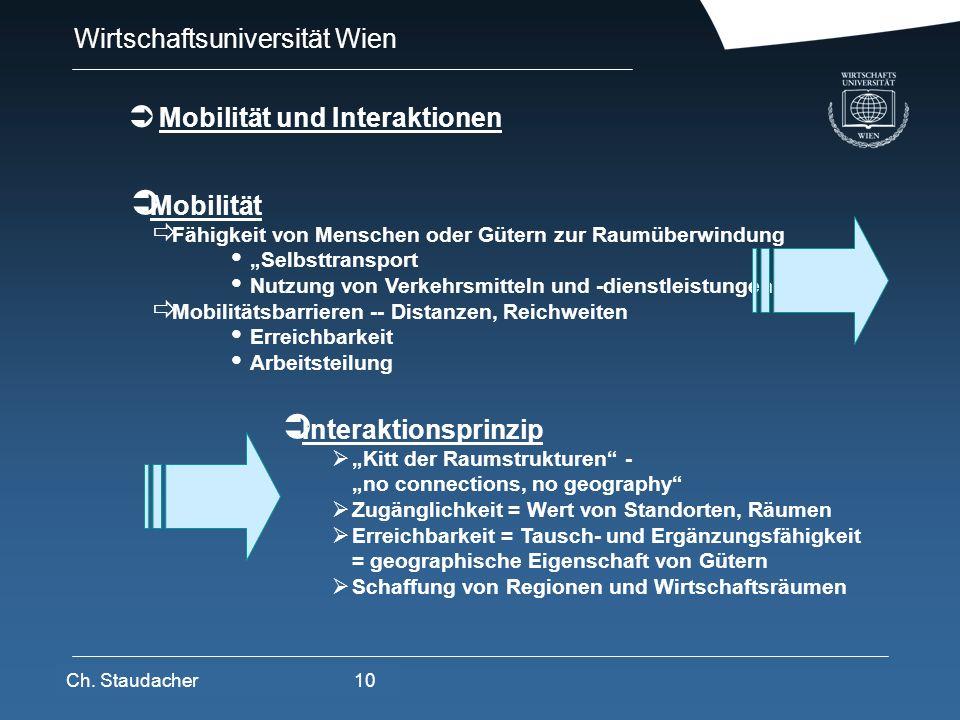 Mobilität und Interaktionen