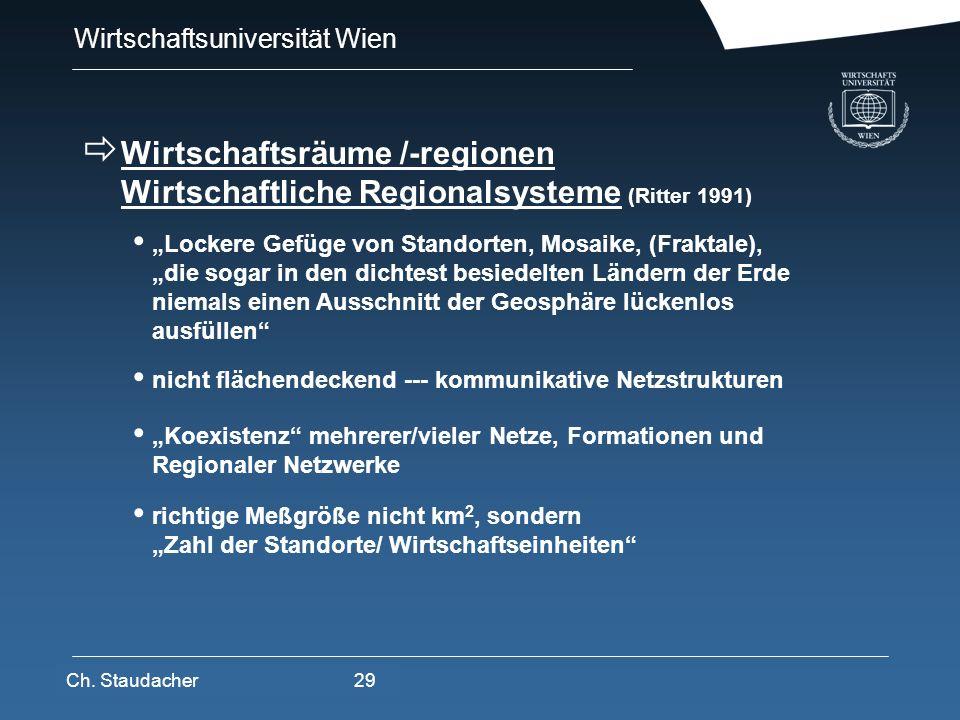 Wirtschaftsräume /-regionen Wirtschaftliche Regionalsysteme (Ritter 1991)