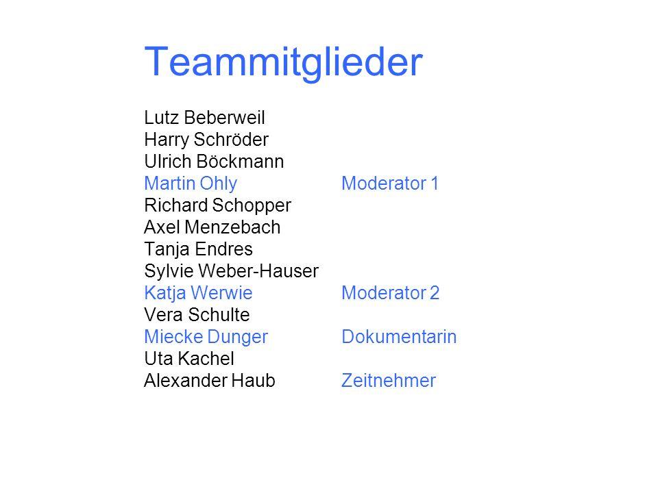 Teammitglieder Lutz Beberweil Harry Schröder Ulrich Böckmann
