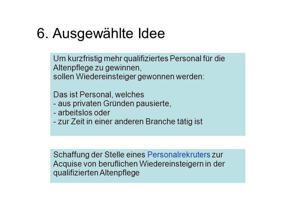 6. Ausgewählte Idee