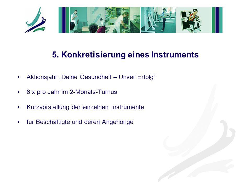 5. Konkretisierung eines Instruments
