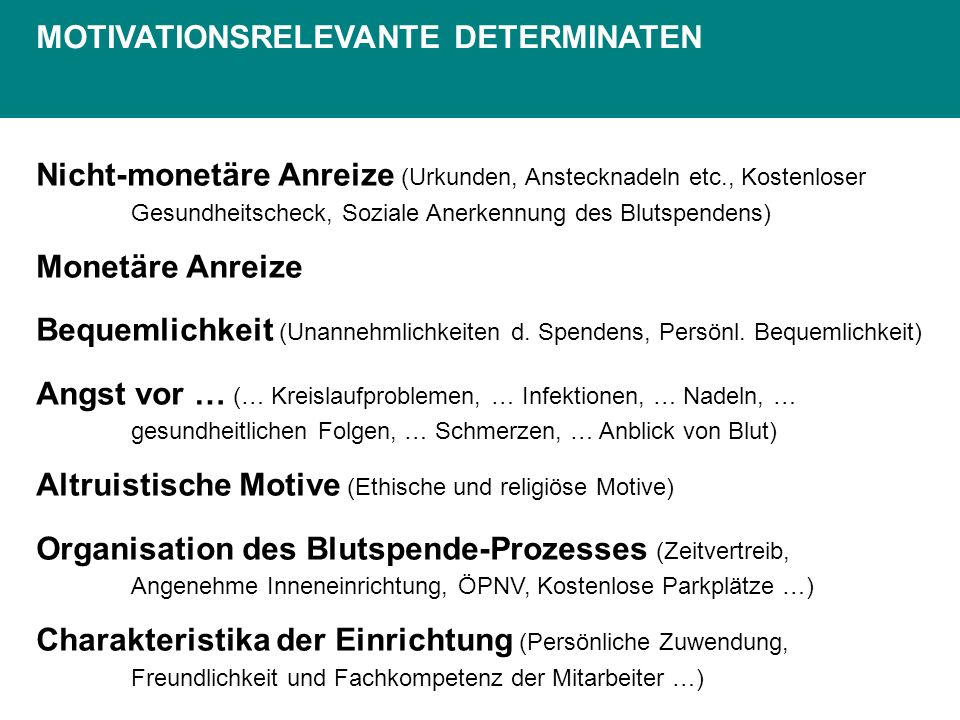 MOTIVATIONSRELEVANTE DETERMINATEN