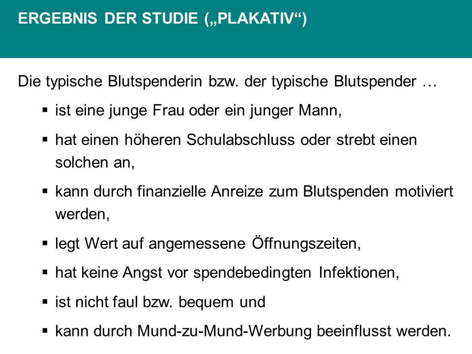 """ERGEBNIS DER STUDIE (""""PLAKATIV )"""