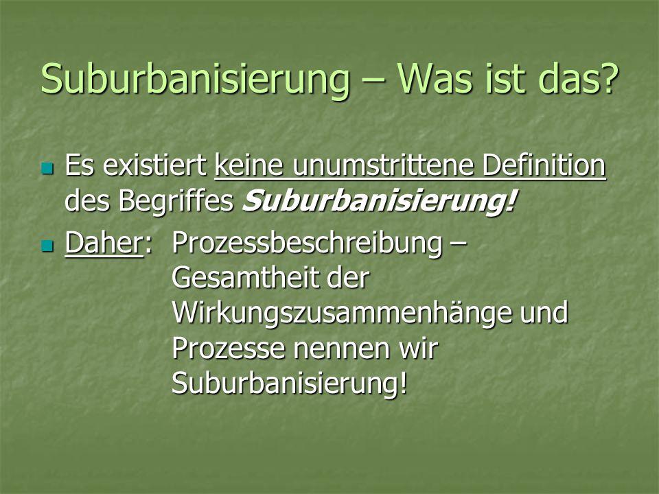Suburbanisierung – Was ist das
