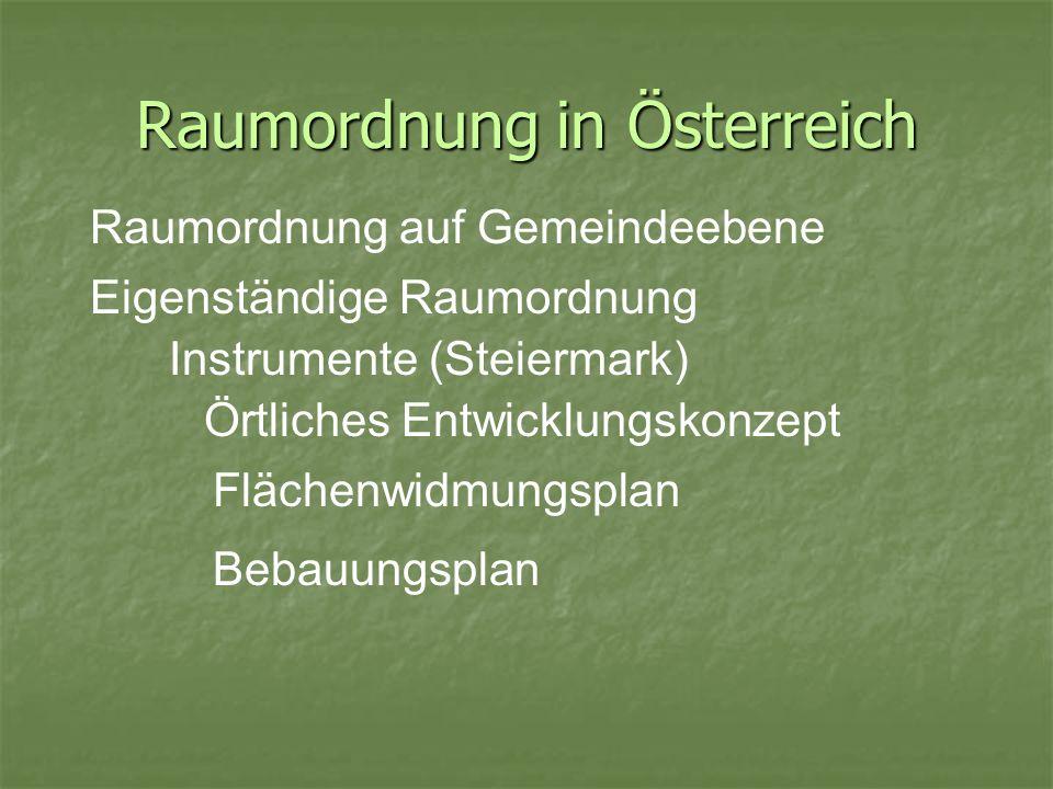 Raumordnung in Österreich