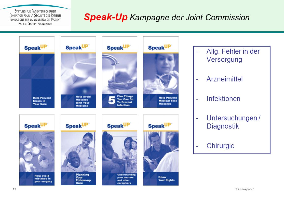 Speak-Up Kampagne der Joint Commission