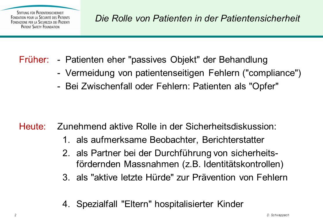 Die Rolle von Patienten in der Patientensicherheit