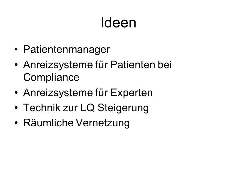 Ideen Patientenmanager Anreizsysteme für Patienten bei Compliance